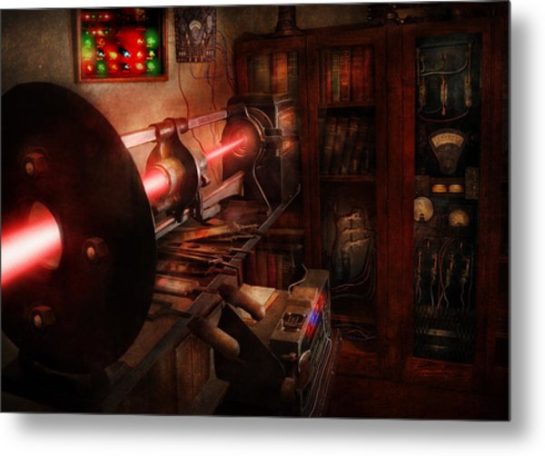 Steampunk - Photonic Experimentation Metal Print by Mike Savad