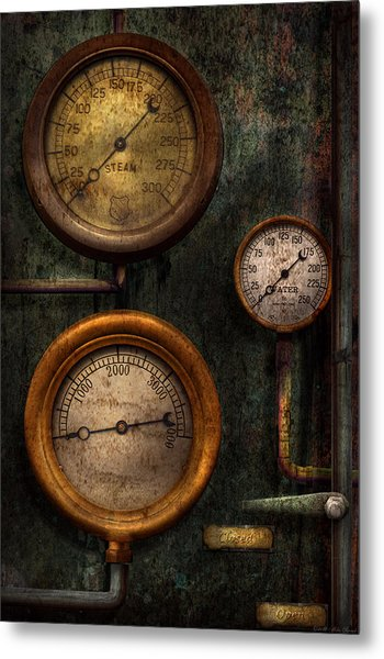 Steampunk - Plumbing - Gauging Success Metal Print