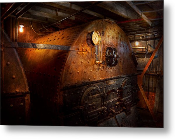 Steampunk - Plumbing - The Home Of A Stoker  Metal Print