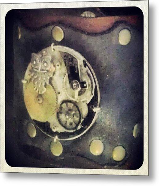#steampunk #steampunkcuff Metal Print