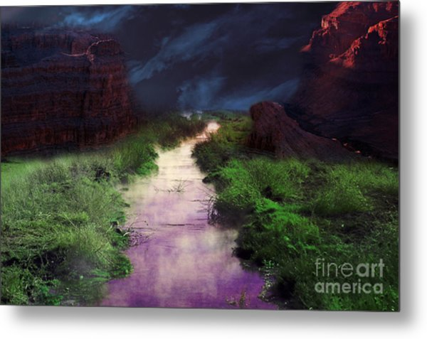 Steamy Creek Metal Print