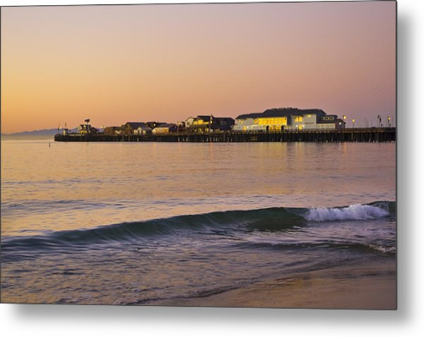 Metal Print featuring the photograph Stearns Wharf At Dawn by Priya Ghose