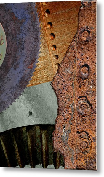 Steel Collage Metal Print