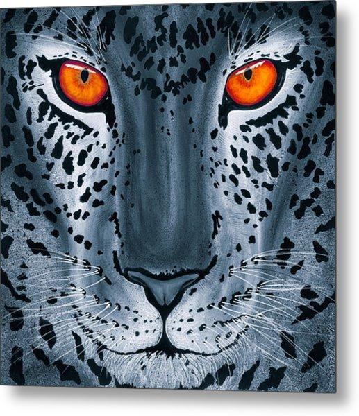Steel Leopard Metal Print