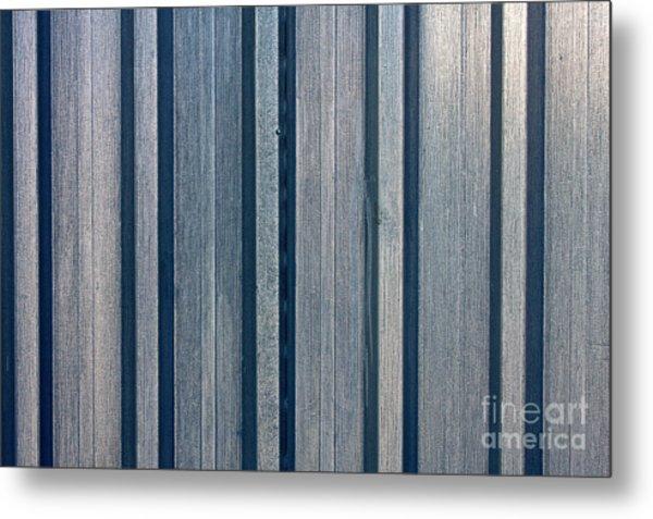 Steel Sheet Piling Wall Metal Print