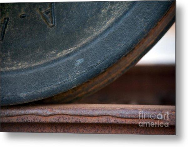 Steel Wheel Metal Print