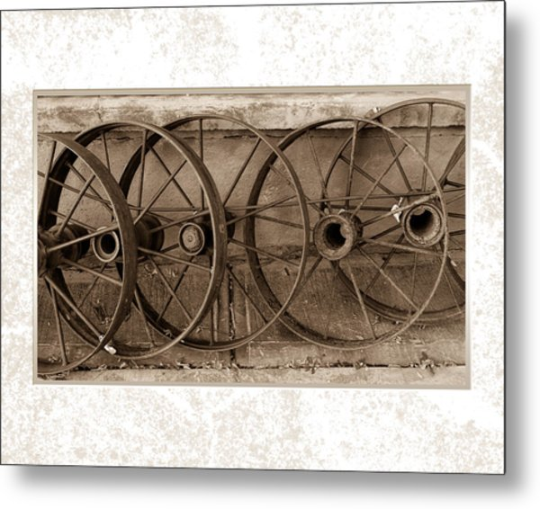 Steel Wheels Metal Print