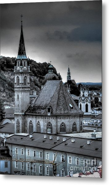 Steeples Over Innsbruck Metal Print