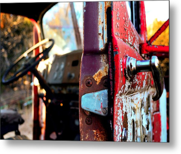 Steering Through Time Metal Print