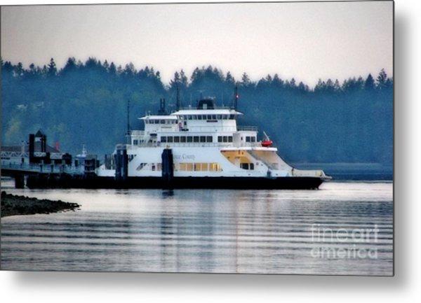 Steilacoom Ferry At Dusk Metal Print