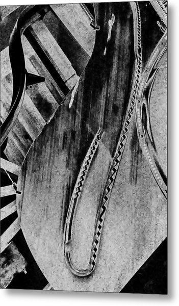 Steinway Black And White Inners Metal Print