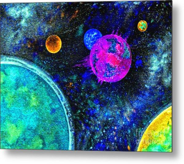 Stellar Flares Metal Print