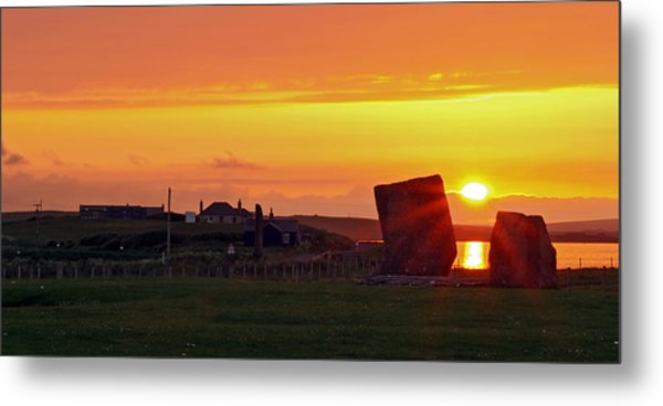 Stenness Sunset 4 Metal Print by Steve Watson
