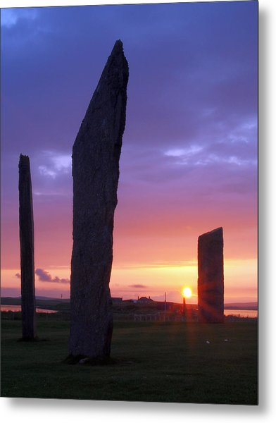Stenness Sunset 5 Metal Print by Steve Watson