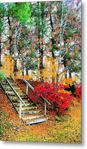 Step Into Autumn Metal Print