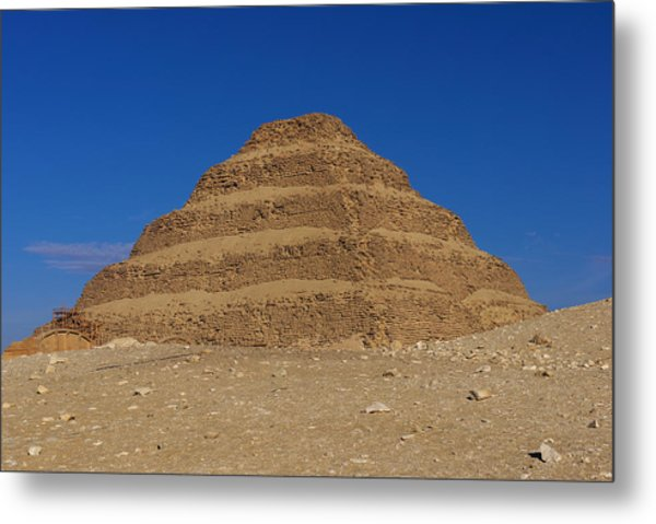 Step Pyramid Of King Djoser At Saqqara  Metal Print