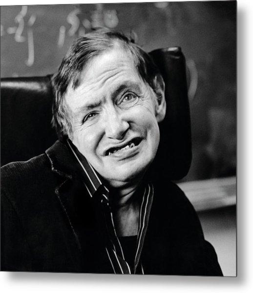 Stephen Hawking Metal Print by Lucinda Douglas-menzies