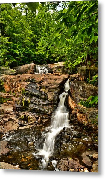 Stepped Falls - Ellsworth New Hampshire Metal Print by Naturally NH