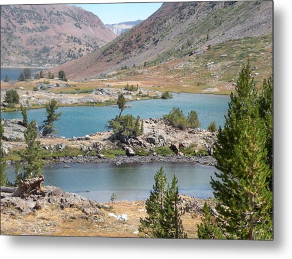 Steps Of Water Metal Print by Peter Hennessey