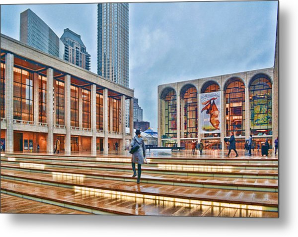 Steps To Fame Lincoln Center Metal Print