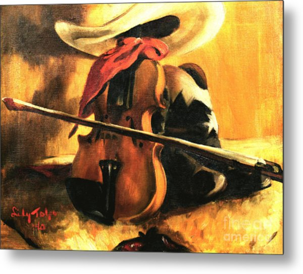 Stetson - Fiddle - Boots  Metal Print