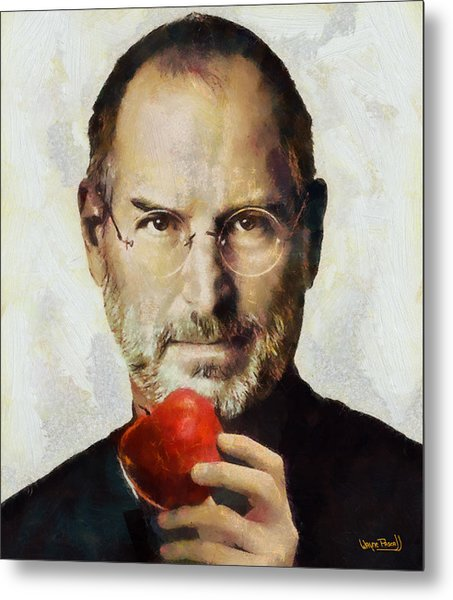 Steve Jobs  Metal Print by Wayne Pascall
