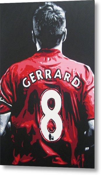 Steven Gerrard - Liverpool Fc 3 Metal Print