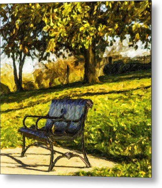 Stevens Lake Park Series 01 Metal Print by David Allen Pierson