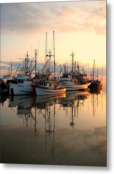 Steveston Harbour Metal Print