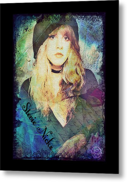 Stevie Nicks - Beret Metal Print
