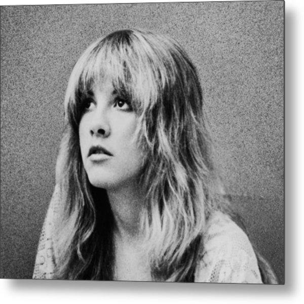 Stevie Nicks Bw Metal Print