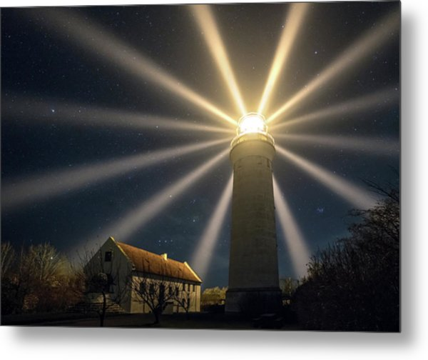 Stevns Lighthouse Metal Print