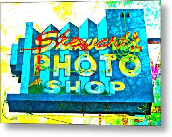Stewart's Photo Shop Metal Print by Gail Lawnicki