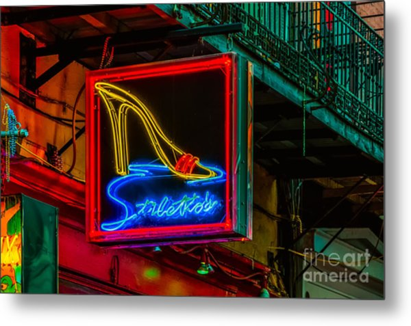 Stilettos On Bourbon Street Nola Metal Print