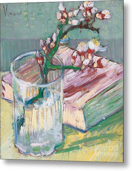 Still Life    A Flowering Almond Branch Metal Print