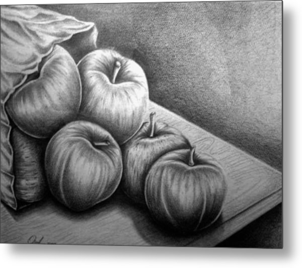 Still Life Drawing Metal Print