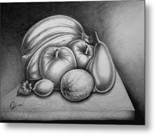 Still Life Fruits Metal Print