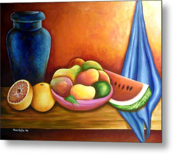 Still Life Of Fruits Metal Print