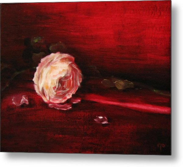 Still Life - Original Painting. Part Of A Diptych.  Metal Print by Tanya Byrd
