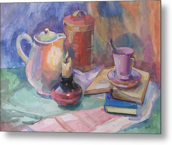Still life with a candle painting by juliya zhukova for Candle painting medium