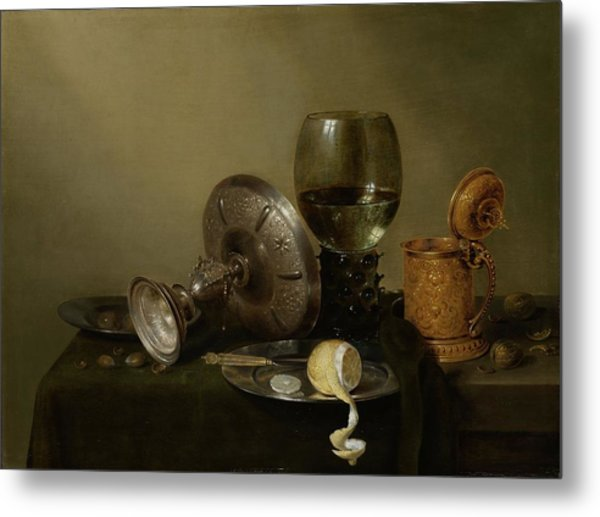 Still Life With A Gilt Cup Metal Print