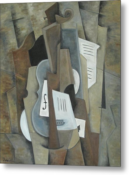 Still Life With Ace Of Spades Metal Print