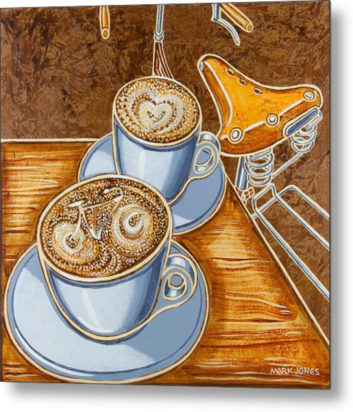 Still Life With Bicycle Metal Print