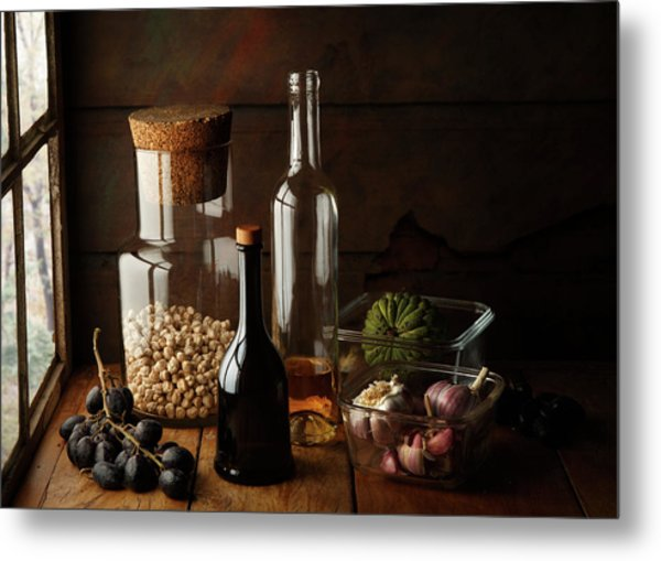 Still Life With Chickpea Metal Print