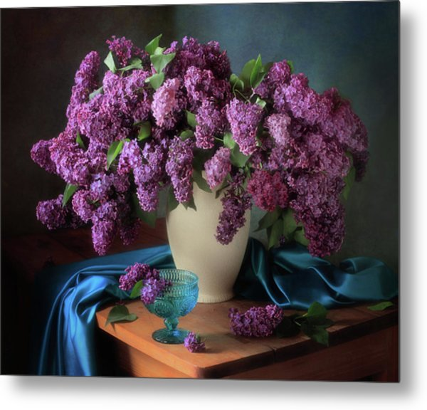Still Life With Fragrant Lilac Metal Print
