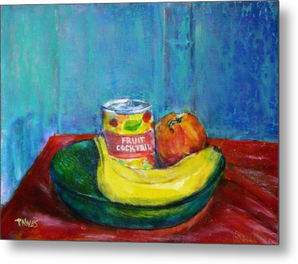 Still Life With Fruit And Humor Metal Print