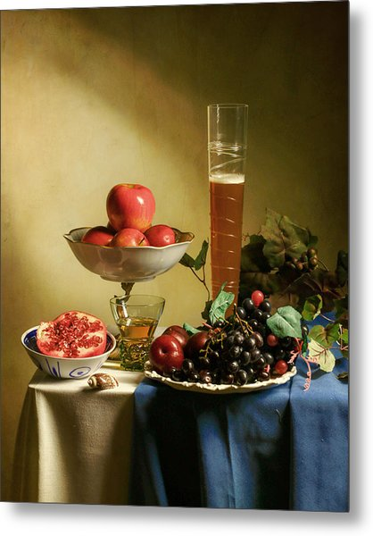 Still Life With Grapes  Metal Print