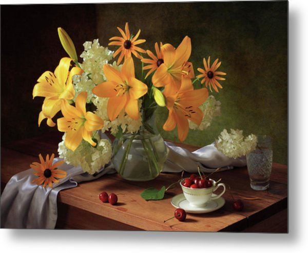 Still Life With Lilies Metal Print