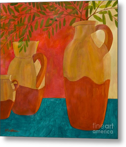 Still Life With Olive Branches II Metal Print