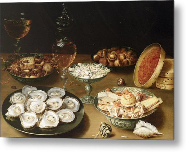 Still Life With Oysters Metal Print